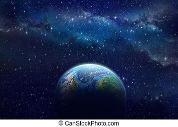 exoplanet, profondo, spazio