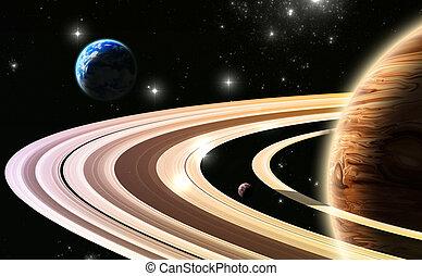 exoplanets., システム, 外, 太陽, 世界, 私達の