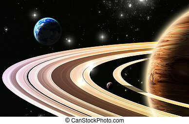 Exoplanets. World outside of our solar system(All art...