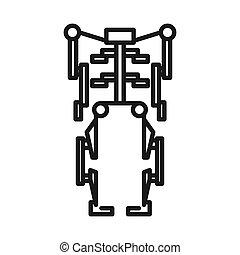exoskeleton, ontwerp, menselijk, illustratie