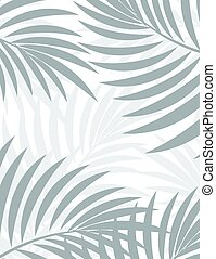 Exotic background with palm leaves for design in hipster...