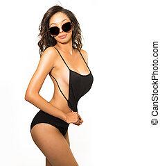 Exotic beautiful young woman
