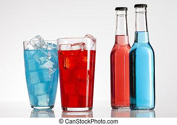 Exotic bottle alcohol cocktail