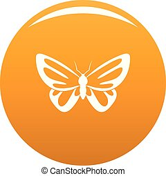 Exotic butterfly icon vector orange