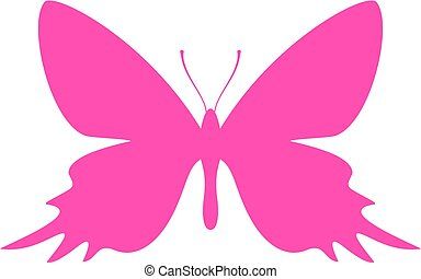 Exotic butterfly vector icon
