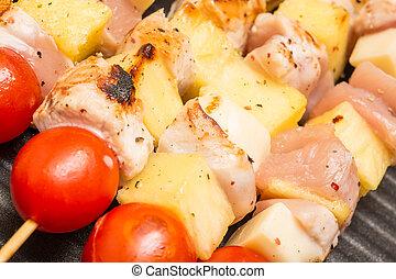 Exotic Chicken Skewers - Exotic Skewers With Chicken Meat,...