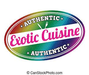 Exotic cuisine stamp