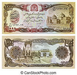Exotic currency money - thousands of money Afghanistan (1000...