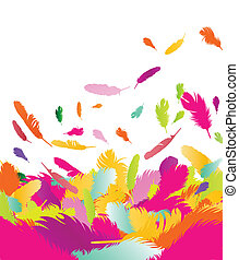 Exotic feather vector background for poster