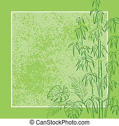 Exotic flora, background