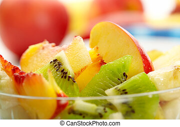 exotic fruit salad. Closeup view