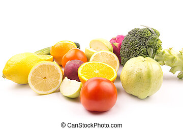 exotic fruits and vegetable