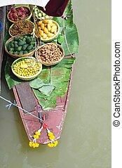 floating market - Exotic fruits for sale on floating market