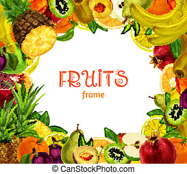 Exotic fruits frame