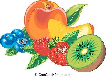 exotic fruits isolated