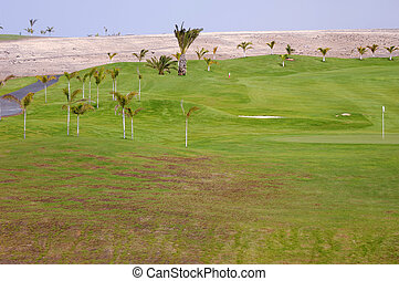 Exotic golf course