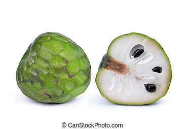 Exotic green fruit cherimoya