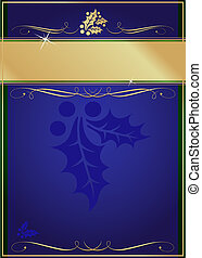 Exotic Holly and Flourish Adorned Christmas Card or Tag - ...