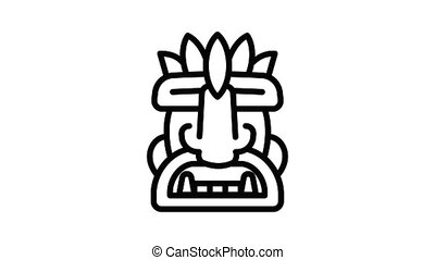 Exotic idol icon animation outline best object on white background