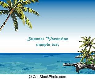 Exotic Island Paradise Beach
