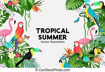 Exotic Jungle Summer Frame Design