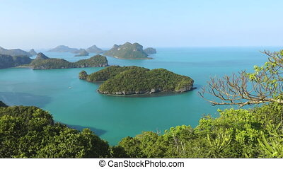 exotic national thailand marine park aerial shot