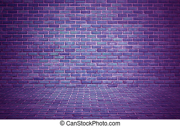 exotic purple brick wall background or texture