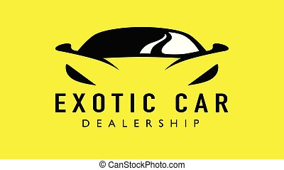 Exotic supercar logo design with concept sports vehicle icon...