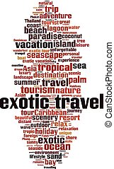 Exotic travel word cloud