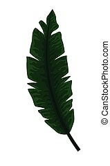 exotic tropical leaves icon cartoon