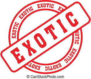 exotic word stamp2 - exotic word stamp in vector format