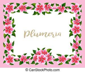 exoticas, cor-de-rosa, havaiano, quadro, tropicais, selva, ...