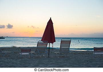 exoticas, tropicais, vista, praia, paraisos