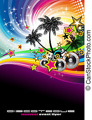 exotique, aviateur, musique, événement, disco