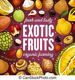 exotique, citrus, pomelo, fruits, lichee, durian