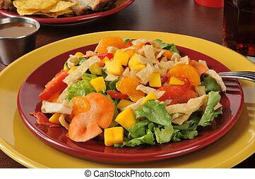 exotique, coloré, salade
