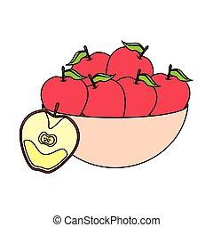 exotique, conception, fruits