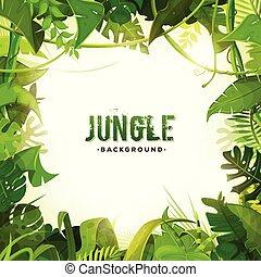 exotique, décoration, jungle, fond
