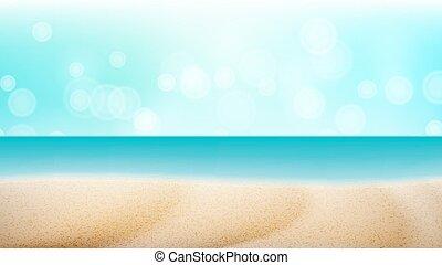 exotique, fond, marine, voyage, illustration, exotique, aventure, vector., vacances, plage, concept., vide, illustration.