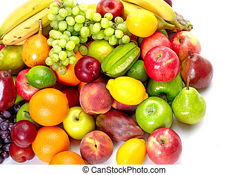 exotique, frais, fruits.