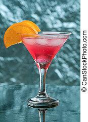exotique, froid, rouges, cocktail