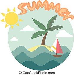 exotique, grandes vacances, île