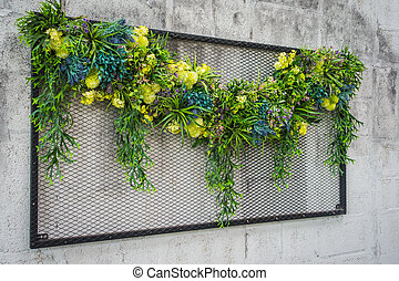 exotique, jardin, vertical