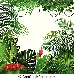 exotique, jungle, fond