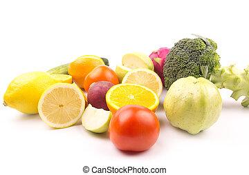 exotique, légume, fruits