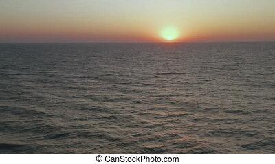 exotique, mer, aérien, beau, sunrise.