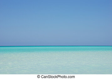 exotique, océan, horizon