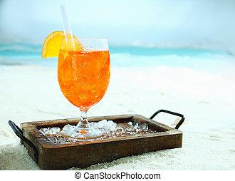 exotique, orange, daquiri, cocktail
