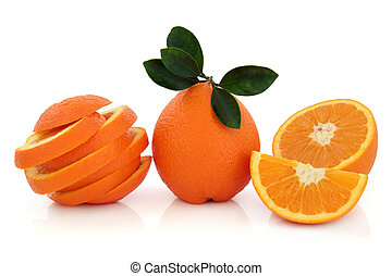 exotique, orange, fruit