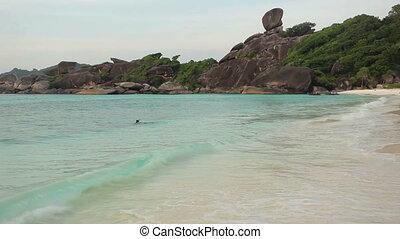 exotique, paysage, plage